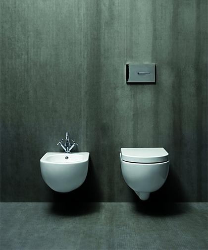 Sanitari bagno wc vaso e bidet sospesi nuvola azzurra - Bagno senza bidet ...