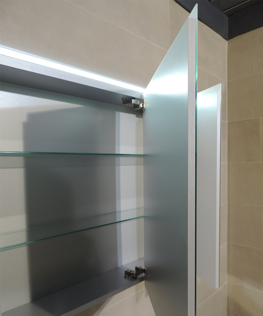Specchiera specchio bagno pensile contenitore 3 ante - Specchio per valutazione posturale ...