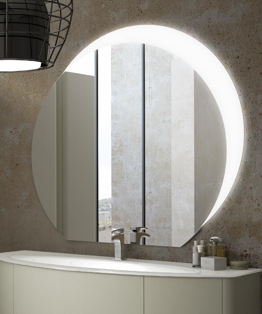 Specchiera specchio bagno filo lucido design con fascia for Vendita led online