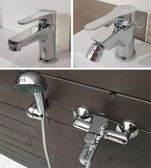 Rubinetto miscelatore bagno lavabo, bidet e vasca cromo, eco M&Z Made in Italy