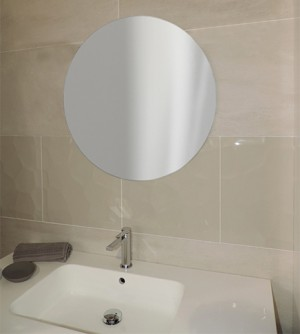 Specchio dal design rotondo x bagno camera soggiorno, filo lucido diametro 65 cm