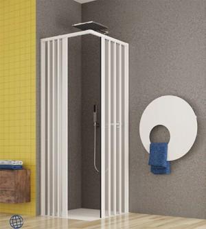 Box doccia 2 lati angolare, cm.70x170, per disabili con apertura centrale