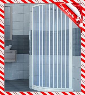 Box doccia semicircolare, misura cm.90x90, cabina a soffietto apertura centrale