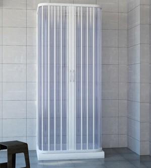 Box doccia 3 lati a soffietto cm. 90x90x90 riducibile su misura, in acrilico pvc