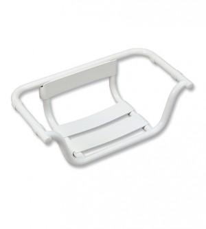 Sedile per vasca da bagno con schienale per anziani disabili Bianco RAL 9010