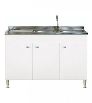 Mobile cucina 3 ante completo di lavello inox 120 componibile sottolavello