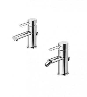 Miscelatore rubinetto lavabo e bidet con pilette di scarico, Logos Gattoni