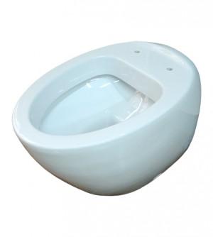 Sanitari bagno vaso wc filo muro, senza coprivaso, Azzurra Clas+ con curva tecnica