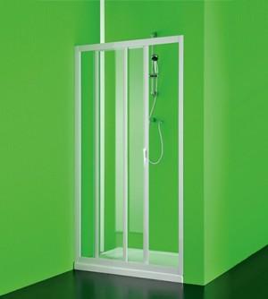 Box porta frontale doccia Maestro pvc,misura cm100-90,nicchia apertura scorrevole colore bianco
