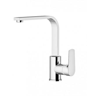 Miscelatore rubinetto per lavello con canna alta a squadro, Gattoni Homix 3000