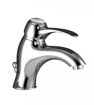 Miscelatore monocomando rubinetto per lavabo con piletta scarico, Samoa Gattoni, colore cromo, cod. 3441