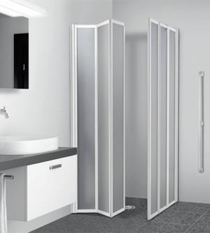 Box doccia 79/80+119/120,3+3 pannelli pieghevoli,lastre acrilico per disabili