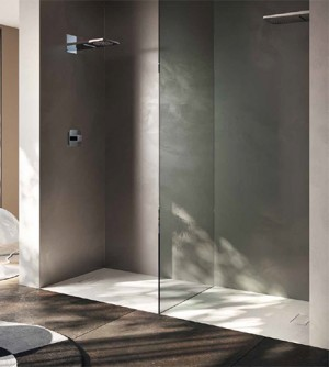 Piatto doccia 80x100 1°scelta rettangolare in resina termoformata effetto pietra con piletta