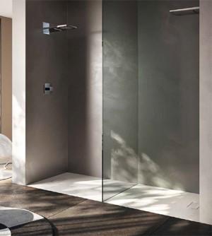 Piatto doccia 80x140 1°scelta rettangolare in resina termoformata effetto pietra con piletta
