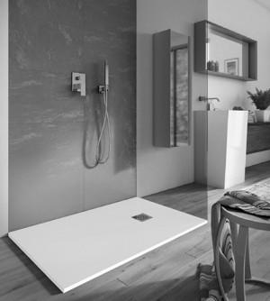 Piatto doccia 80x140 1°scelta rettangolare in pietra sintetica, piletta cromata