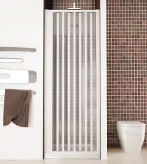 Box porta frontale doccia,misura cm100,cabina soffietto apertura laterale bianco