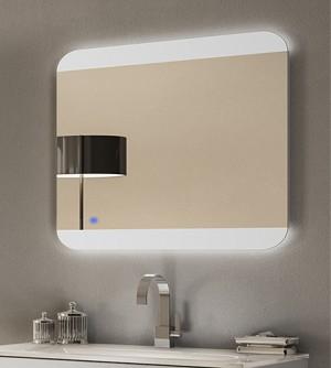 Specchiera specchio filo lucido,retroilluminato a led,sensore touch,cm.70x100