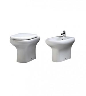 Sanitari bagno vaso filo muro, bidet, senza coprivaso, Compact Rak