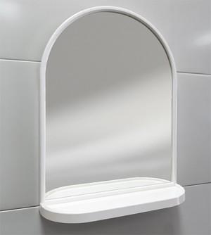 Specchiera specchio a cupola Bijoux con mensola e cornice in Abs, 44x58x13,5 cm