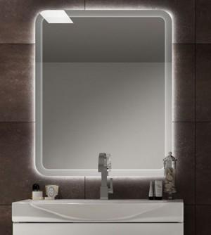 Specchiera specchio filo lucido,retroilluminato a led cm.90x74