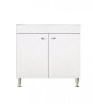Mobile cucina componibile cm.80, con 2 ante, bianco top color marmo