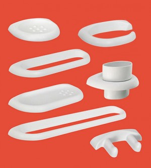 Set accessori bagno, Vela Saniplast Durofort, materiale antigraffio, pezzi 8