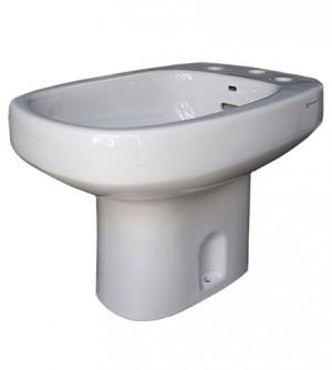 Sanitari bagno Bidet Pozzi Ginori modello Square, 3 tre fori, colore bianco