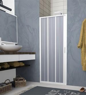 Box doccia porta,nicchia a soffietto,misura cm.80,regolabile da cm.100 a cm.80