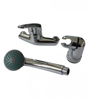 Miscelatore monocomando rubinetto doccia, con flessibile e doccetta