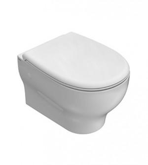 Sanitari bagno vaso wc water sospeso,senza brida,compatibile,Grace Globo,bianco