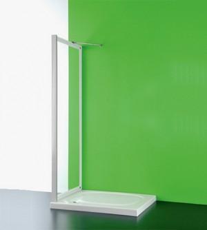 Anta fissa per box doccia, CC cm.82-85, regolabile in pvc