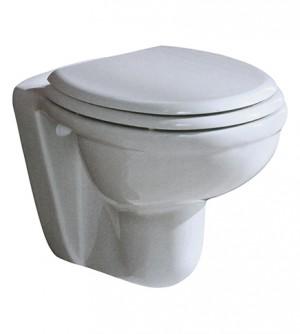 Sanitari bagno vaso water sospeso, coprivaso, Karla Rak, con di staffe di fissaggio