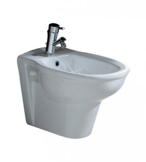 Sanitari bagno bidet sospeso, Karla Rak, ceramica bianca