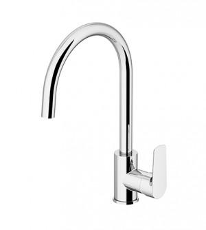 Miscelatore rubinetto lavello con bocca girevole,Gattoni Homix 3000,colore cromo