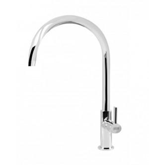 Miscelatore rubinetto monocomando lavello cucina collo alto, cromo mixer