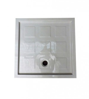 Piatto doccia 80x80 1^scelta quadrato in ceramica bianca trendy Azzurra