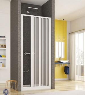 Box porta porta doccia a soffietto cm.80, apertura laterale, riducibile