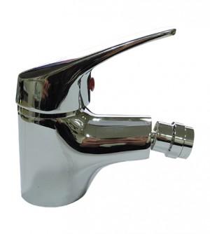 Miscelatore monocomando rubinetto monoforo per bidet con piletta di scarico