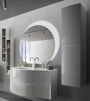 mobile bagno sospeso moderno vague grigio antracite