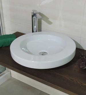 Lavabo lavandino bacinella d'appoggio, diametro cm.48, Art Ceram mod. Ulahop
