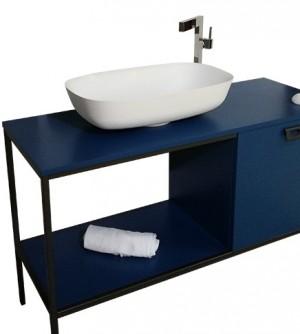Lavabo bacinella d'appoggio, rettangolare cm.60, Solid Surface Corian Miky