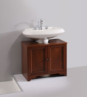 Mobile da bagno armadietto sotto lavabo copri colonna con ante e ripiano interno