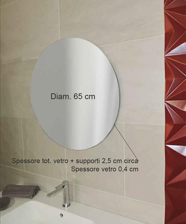 Specchio tondo bagno mobile arredo bagno curvo specchio - Specchio tondo ikea ...