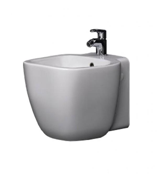 Sanitari bagno vaso wc water sospeso con bidet senza coprivaso one rak ceramica bianco - Bagno senza bidet ...