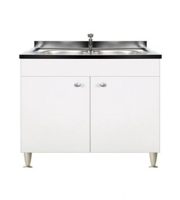 Mobile Con Lavello Cucina.Mobile Sottolavello Bianco Per Inox 2 Ante Senza Lavello Cm 100 Arredobagno E Cucine S R L S