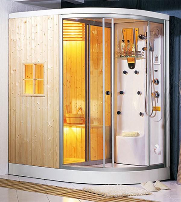 Cabina Doccia Con Sauna.Box Doccia Idromassaggio Cm 160x120x215 Con Cabina Per Sauna