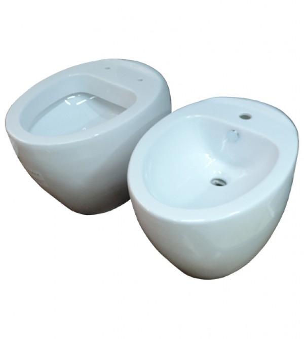 Sanitari bagno vaso wc e bidet filo muro senza coprivaso azzurra clas arredobagno e cucine s - Sanitari bagno filo muro ...
