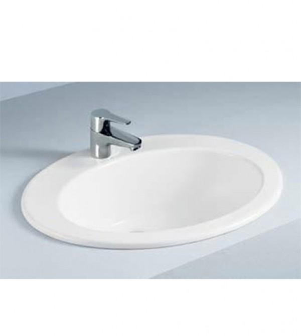 Lavabo lavandino soprapiano da incasso in ceramica bianca - Lavandino bagno da incasso ...