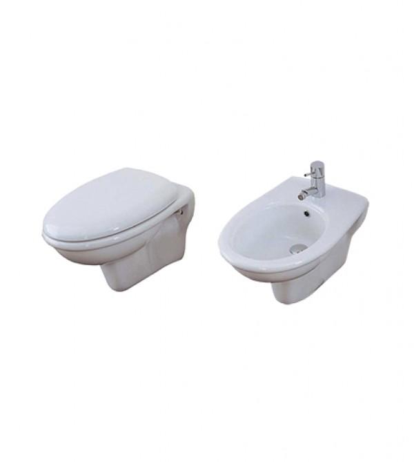 Sanitari Bagno Vaso Wc Water Sospeso Con Bidet Compreso Di