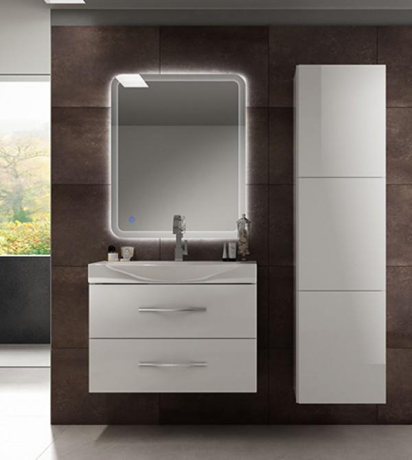 Mobile bagno moderno New York sospeso bianco, misura cm 84, con ...